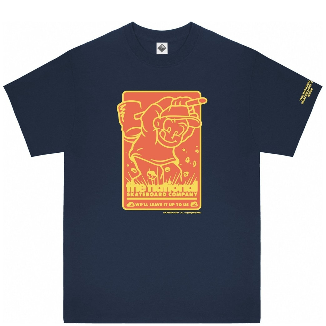 The National Skateboard Co Hook Up T-Shirt - Navy | T-Shirt by The National Skateboard Co. 1