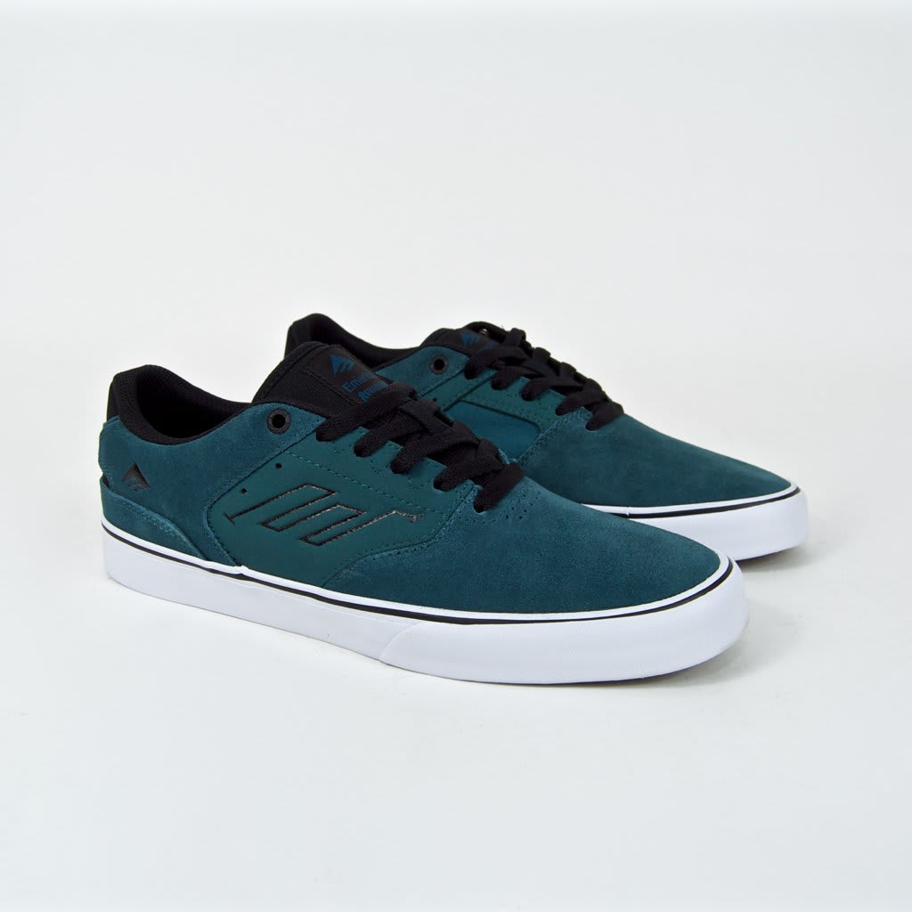 Emerica The Reynolds Low Vulc Skate Shoes - Teal / Black   Shoes by Emerica 2