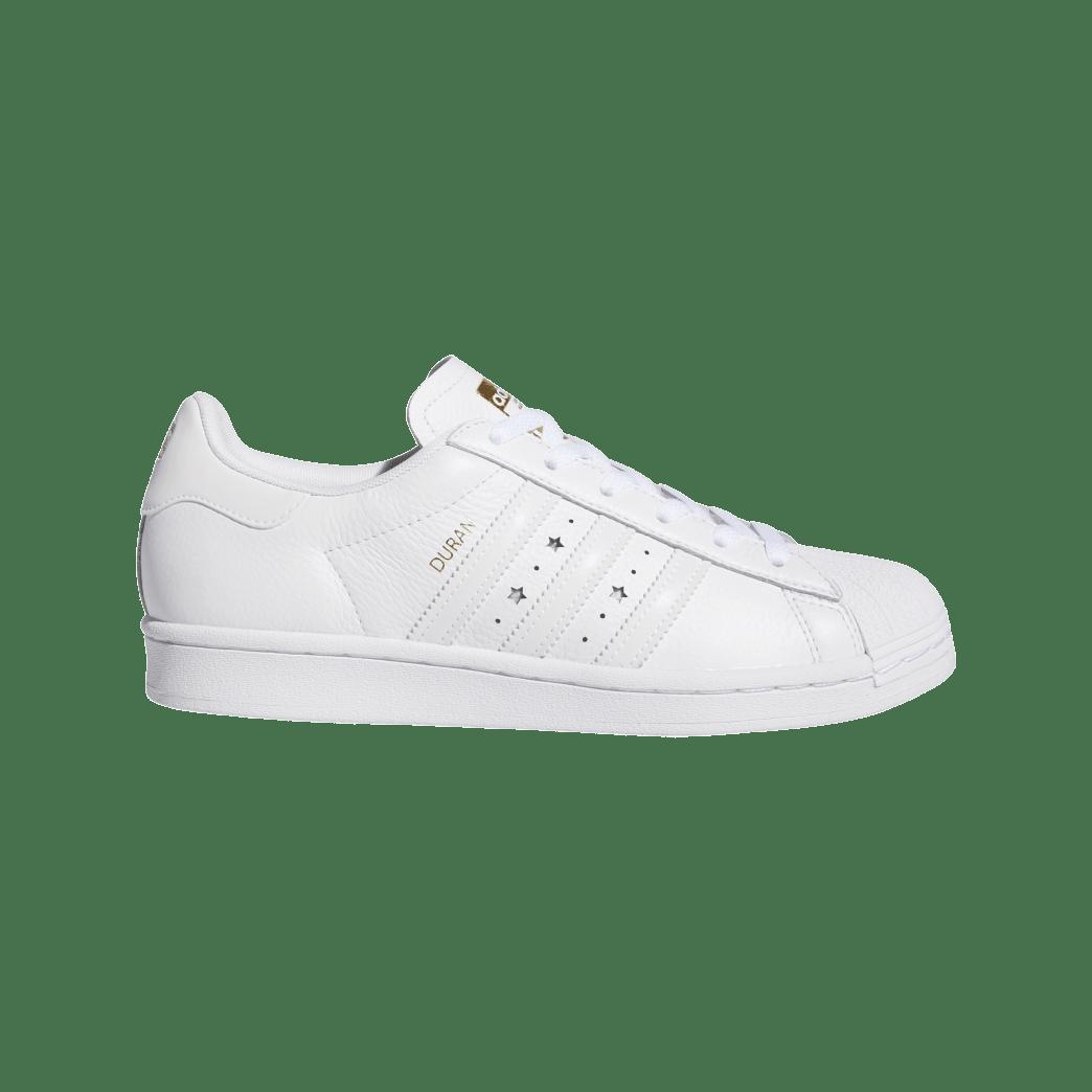 adidas Superstar ADV x Duran Skate Shoe - Cloud White / Cloud White / Cloud White | Shoes by adidas Skateboarding 1