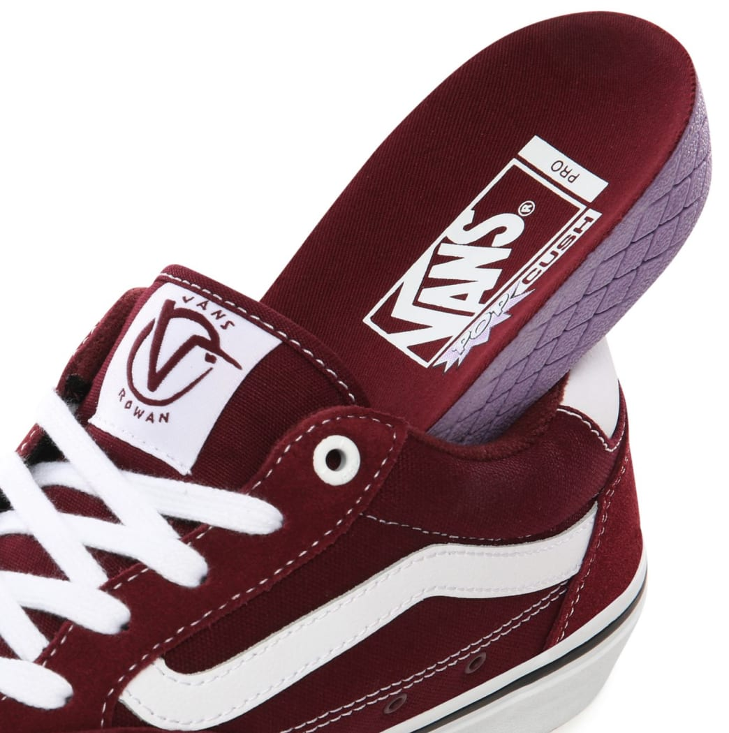 Vans Rowan Pro Skate Shoes - Port / White | Shoes by Vans 5