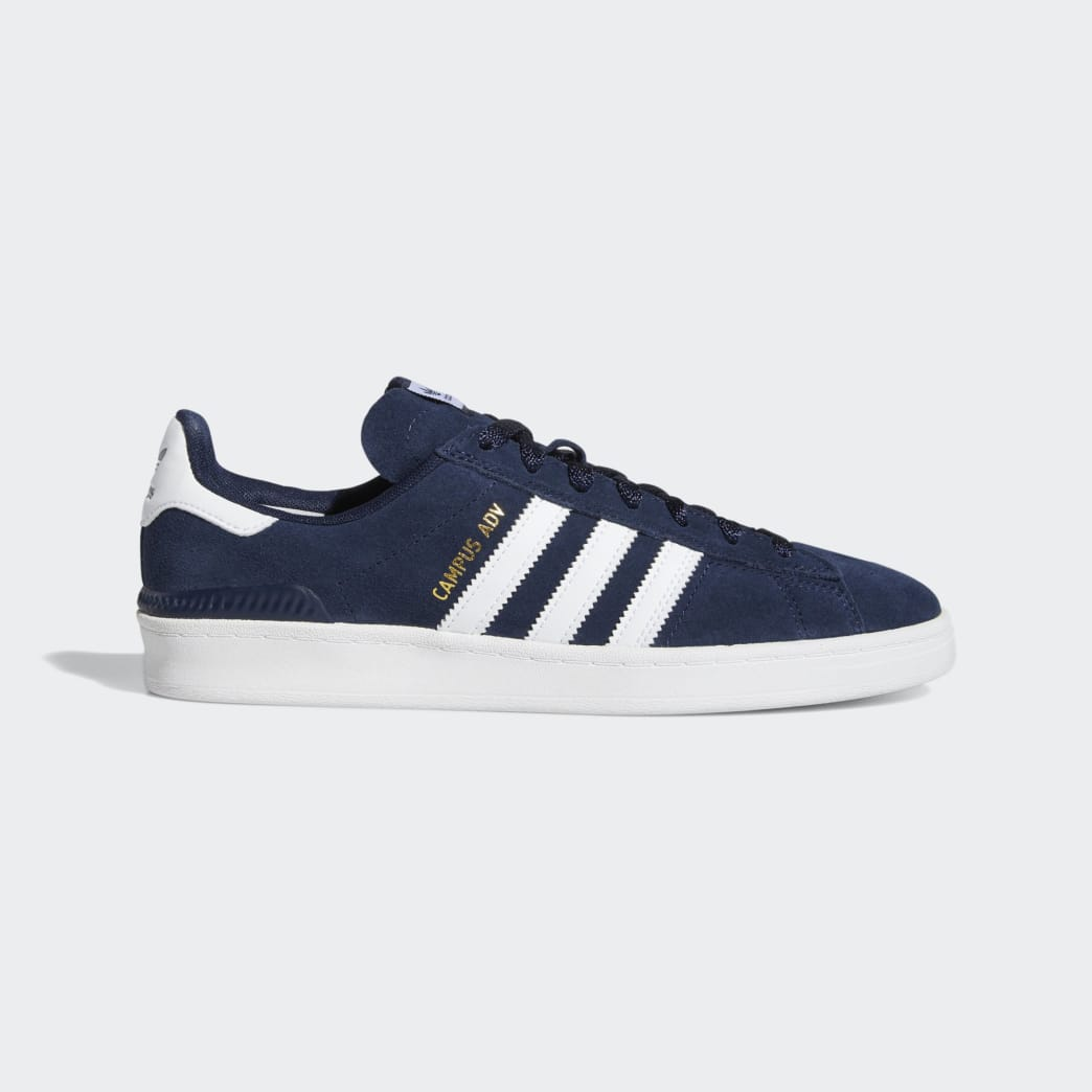 Adidas Campus ADV Shoes - Collegiate Navy/Cloud White/Cloud White | Shoes by adidas Skateboarding 1
