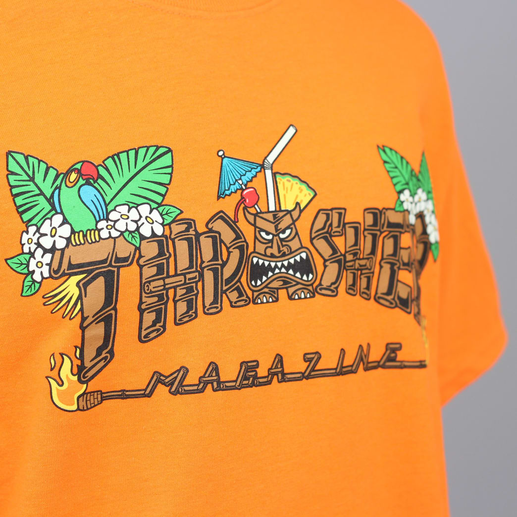 Thrasher Tiki T-Shirt Safety Orange | T-Shirt by Thrasher 4