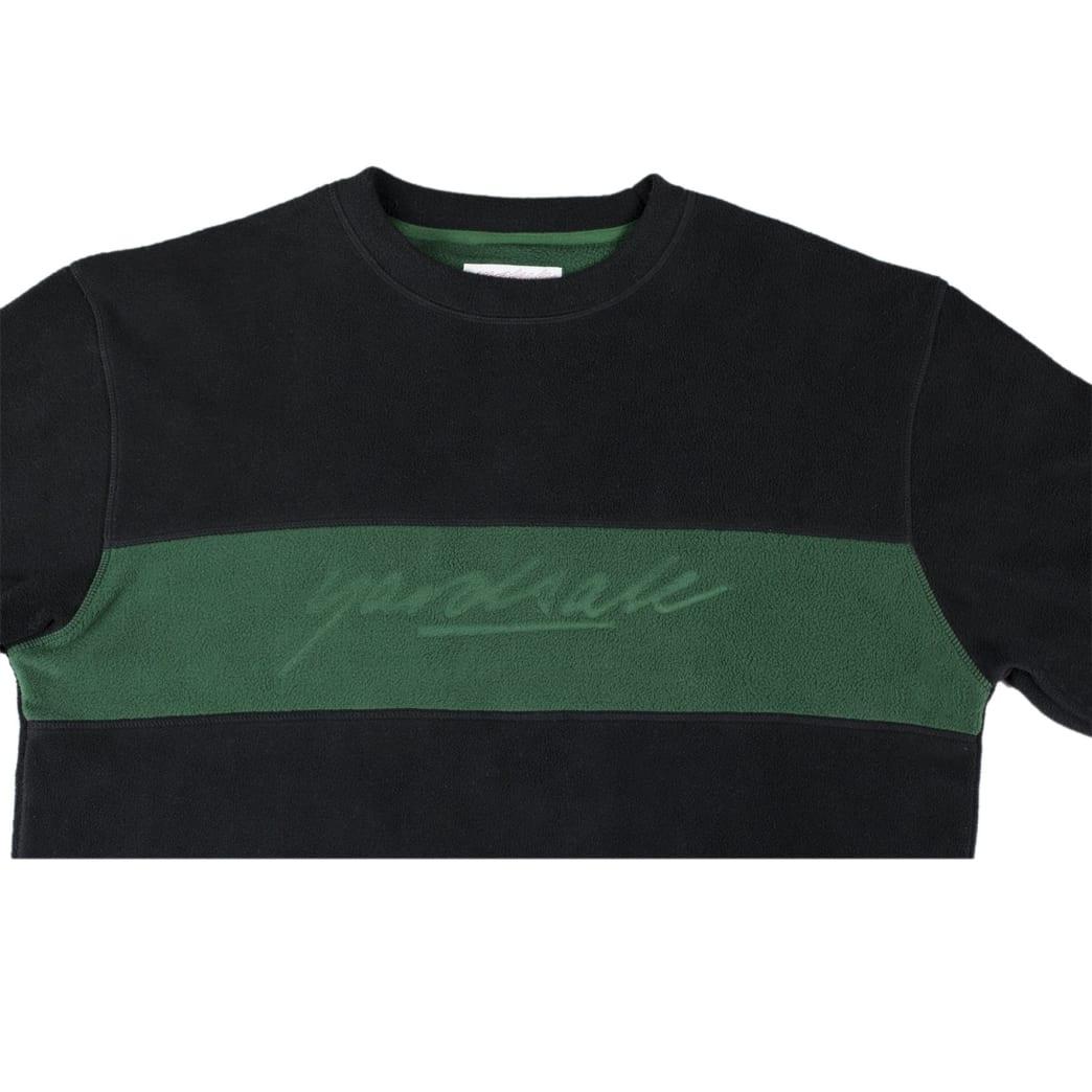 Yardsale Embossed Fleece Crewneck - Black / Forest Green   Sweatshirt by Yardsale 3