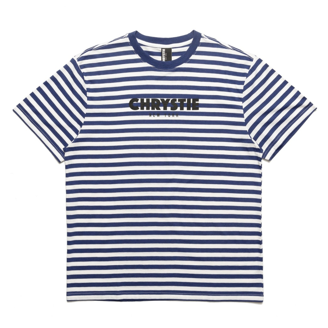 Chrystie OG Logo Stripe T-Shirt_Blue | T-Shirt by Chrystie NYC 1