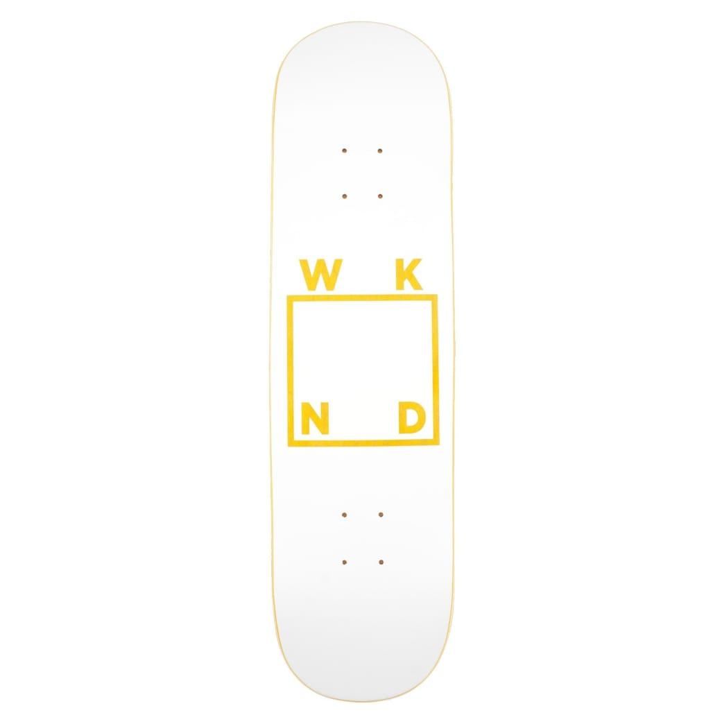 "WKND White Logo Skateboard Deck - 8"" | Deck by WKND 3"