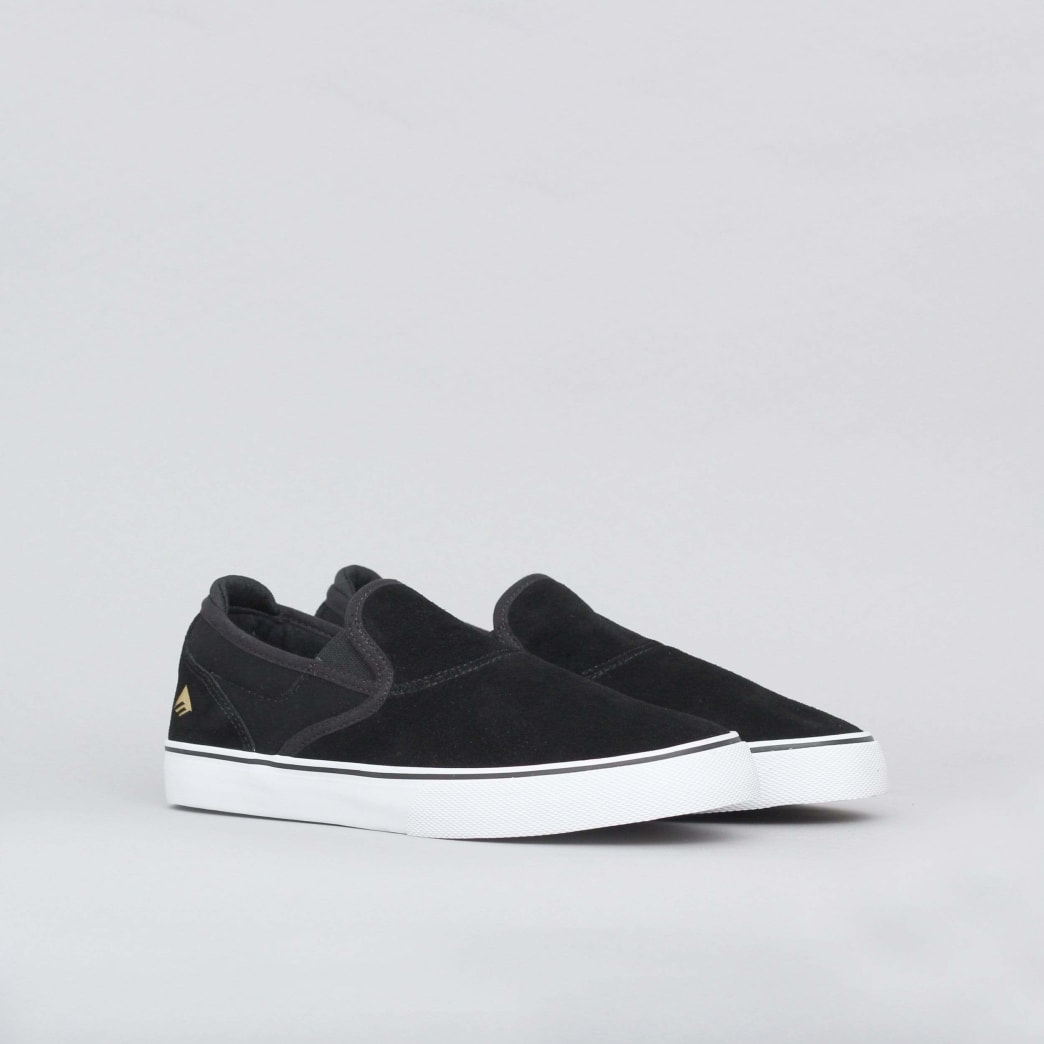Emerica Wino G6 Slip-On Shoes (Kids) - Black / White / Gold | Shoes by Emerica 3