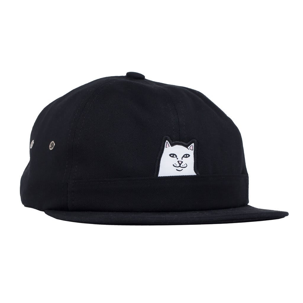 Rip N Dip Lord Nermal 6 Panel Pocket Hat - Black | Panel Hat by Ripndip 1