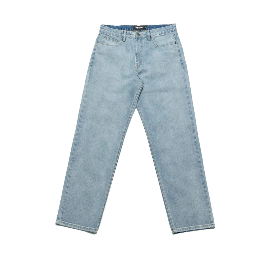 Chrystie NYC Relaxed Fit Denim Pants - Washed Blue | Jeans by Chrystie NYC 1