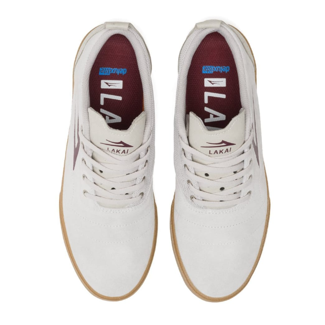 Lakai Bristol Suede Skate Shoes - White / Gum | Shoes by Lakai 4