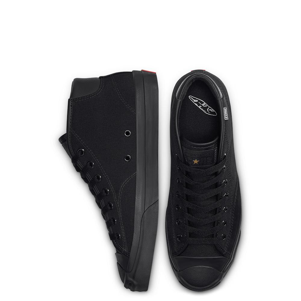 Converse Cons Jack Purcell Pro Mid Skate Shoes - Black / Enamel Red / Black   Shoes by Converse Cons 4