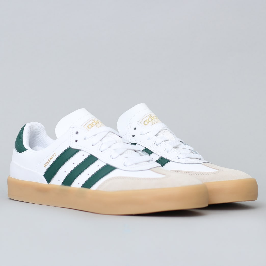 adidas Busenitz Vulc RX Shoes FTWR White / Collegiate Green / Gum3 | Shoes by adidas Skateboarding 3