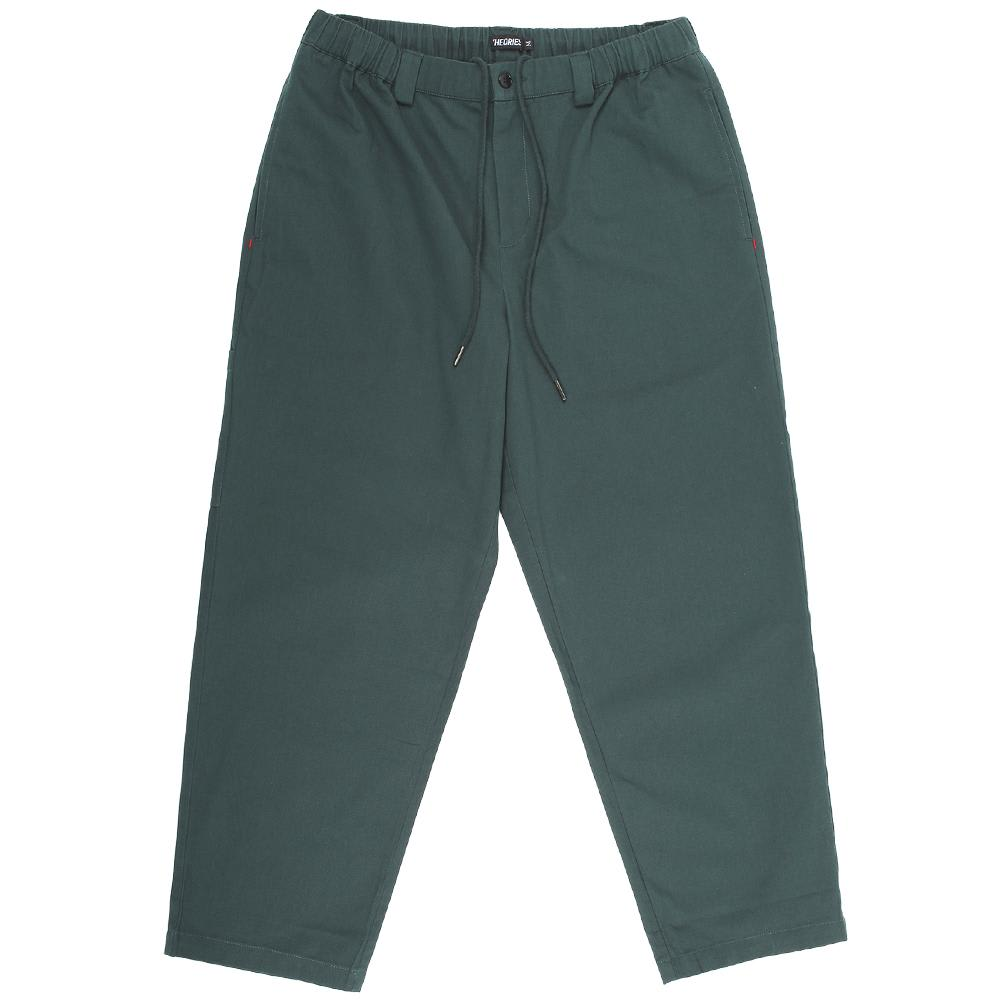 Theories Stamp Lounge Pant Scarab Green | Trousers by Theories of Atlantis 1