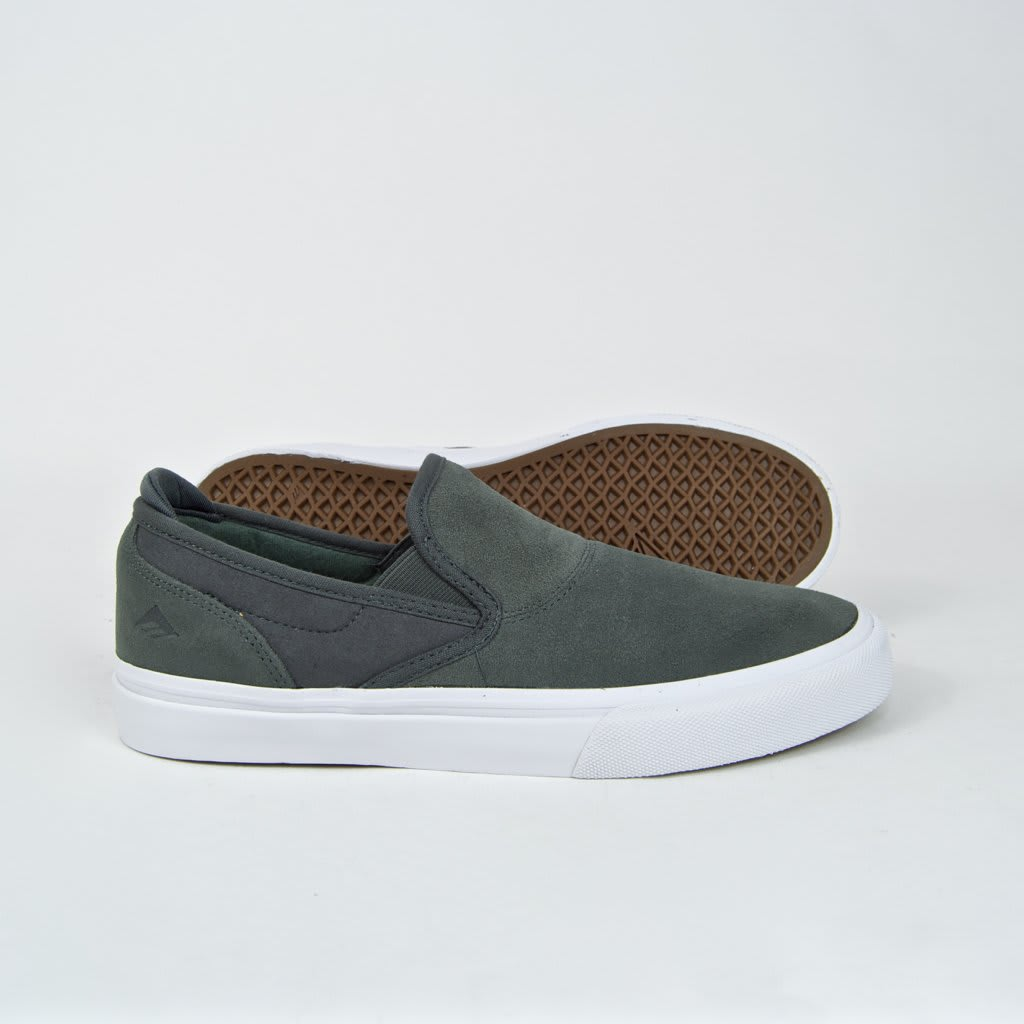 Emerica Wino G6 Slip-On Skate Shoes - Grey | Shoes by Emerica 3