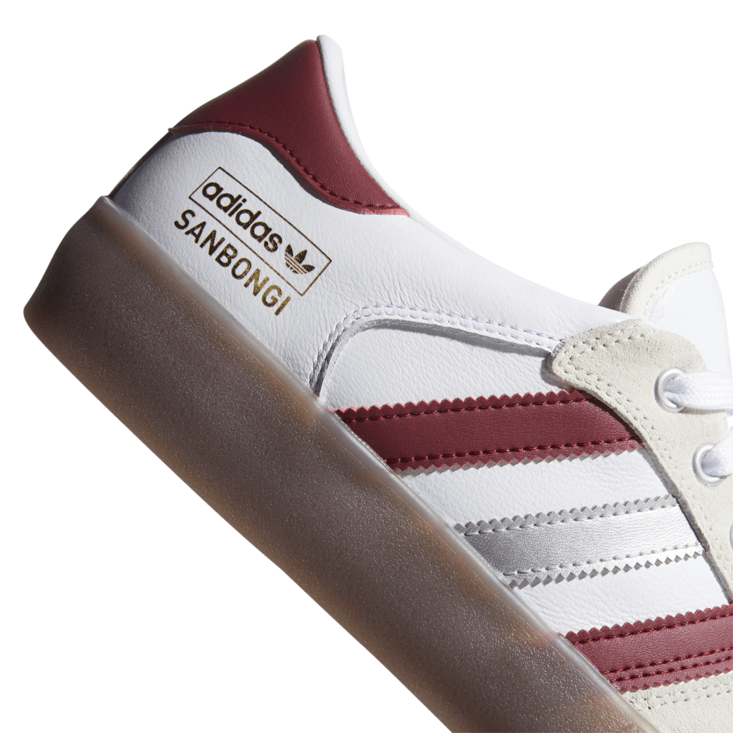 Adidas Matchbreak Super Shin Sanbongi Skateboarding Shoes - FTWR White / Collegiate Burgundy / Gum 4 | Shoes by adidas Skateboarding 7