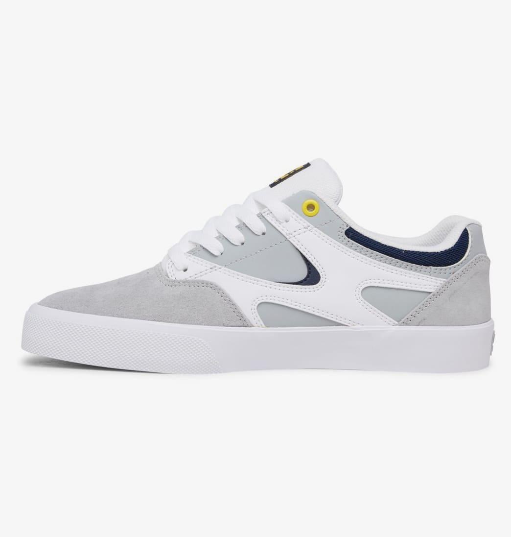 DC Kalis Vulc Skate Shoes - White / Grey / Grey   Shoes by DC Shoes 3