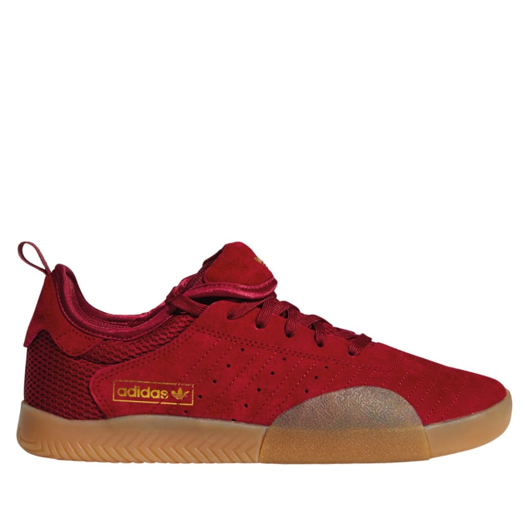 adidas 3ST.003 Skate Shoes - Collegiate Burgundy / Gum 4 / Gold Met | Shoes by adidas Skateboarding 1