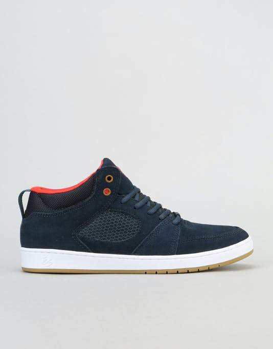 ACCEL SLIM MID - NAVY BLUE WHITE | Shoes by eS Shoes 1