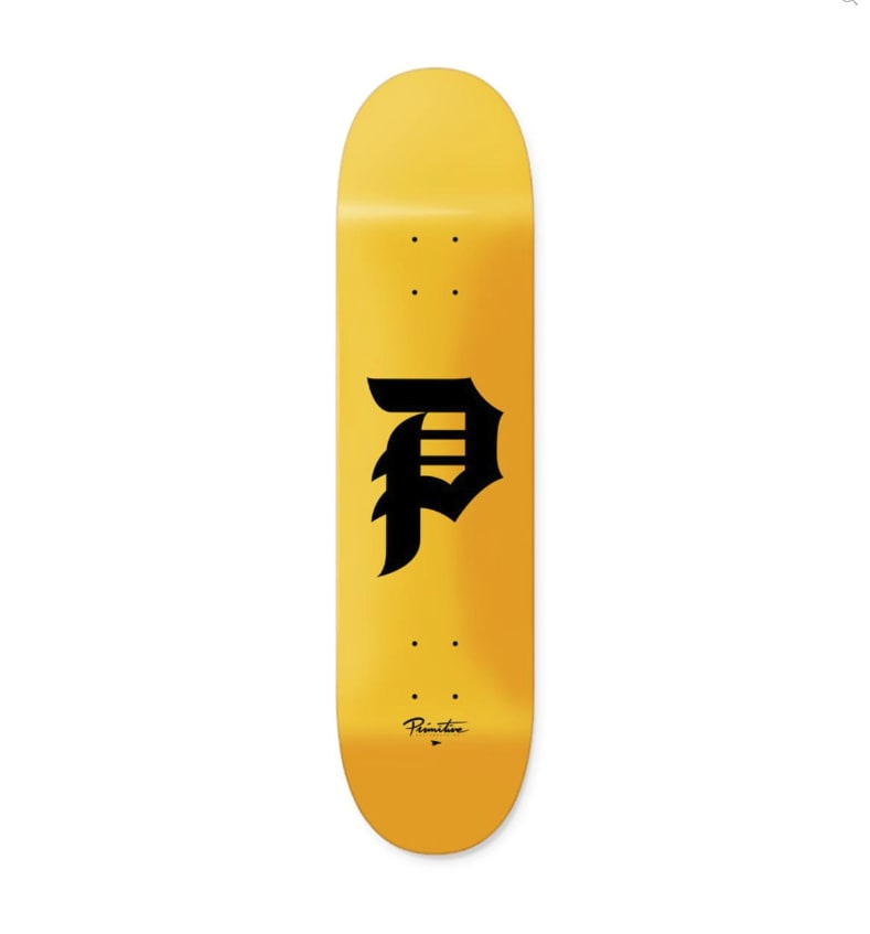 PRIMITIVE Dirty P Core Deck Yellow | Deck by Primitive Skateboards 1