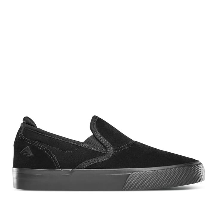 Emerica Wino G6 Slip-On Shoes (Kids) - Black / White / Gold | Shoes by Emerica 1