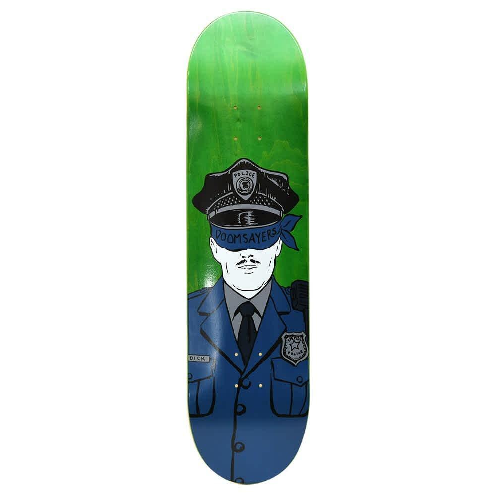 "Doom Sayers - 8.5"" Corp Cop Deck - Green | Deck by Doom Sayers Club 1"