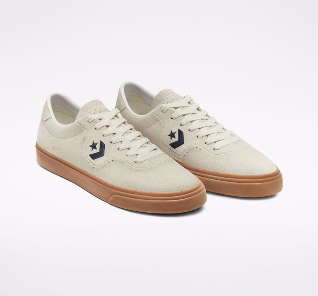 Converse CONS Louie Lopez Pro Ox Skate Shoes - Egret / Obsidian / Gum | Shoes by Converse Cons 4
