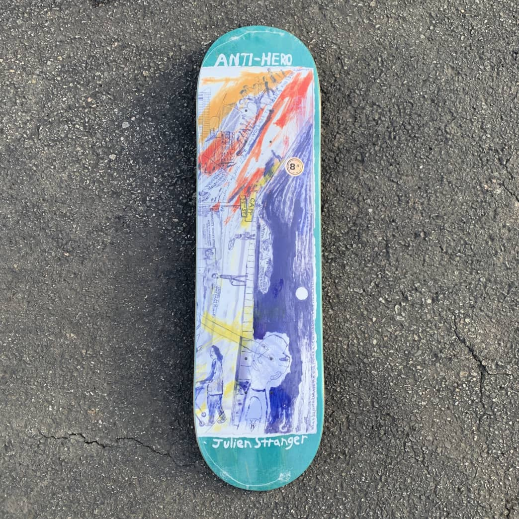 Anti Hero Stranger SF Then & Now Deck 8.4 | Deck by Antihero Skateboards 1