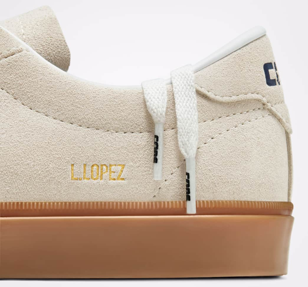Converse CONS Louie Lopez Pro Ox Skate Shoes - Egret / Obsidian / Gum | Shoes by Converse Cons 5