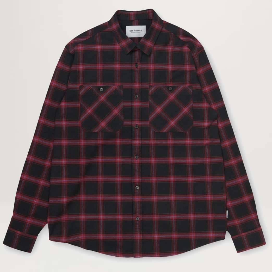 Carhartt WIP Darren Check Shirt (Bordeaux) | Shirt by Carhartt WIP 1