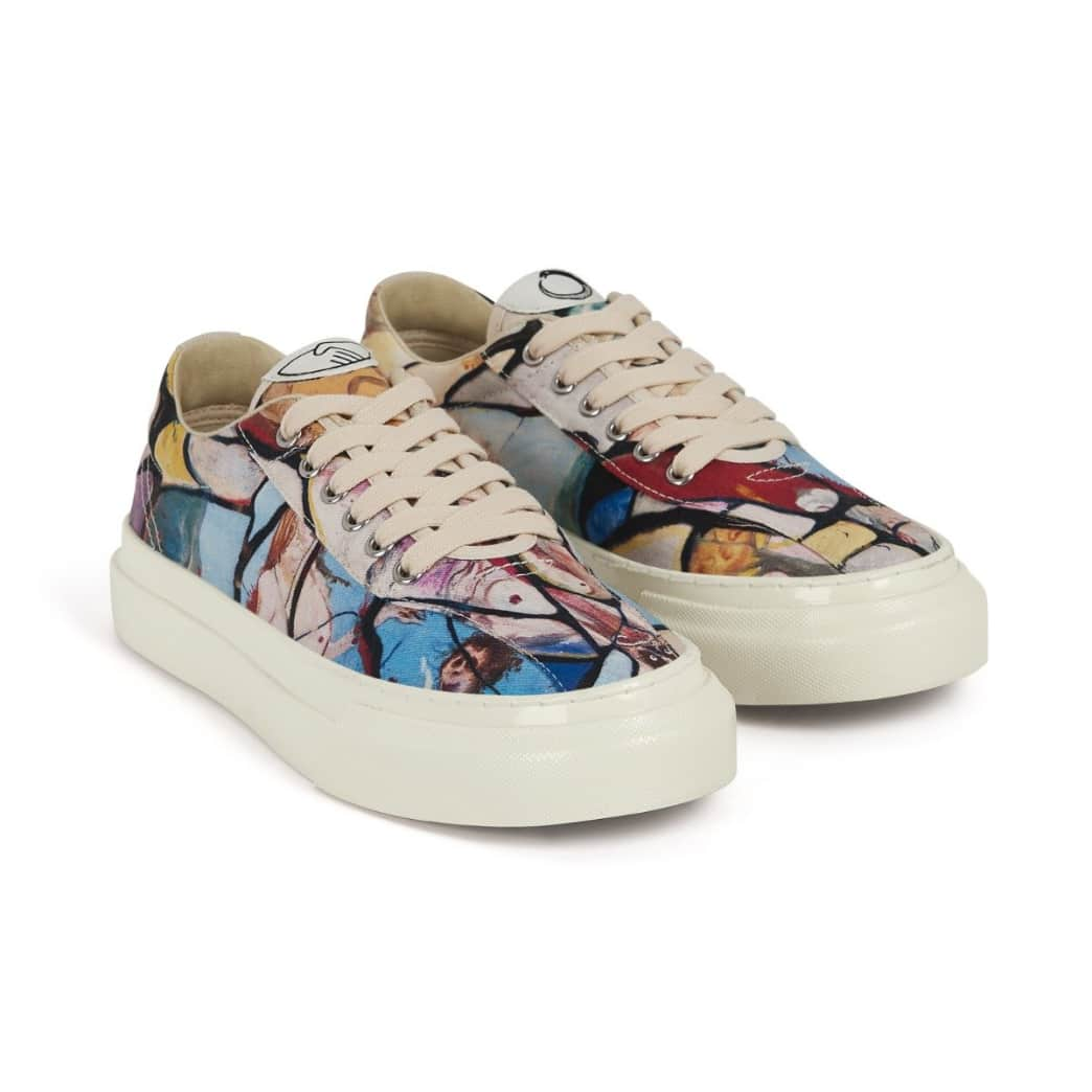 Stepney Workers Club x Endless Joy Dellow Womens Canvas Shoes - Cracked Earth | Shoes by Stepney Workers Club 2