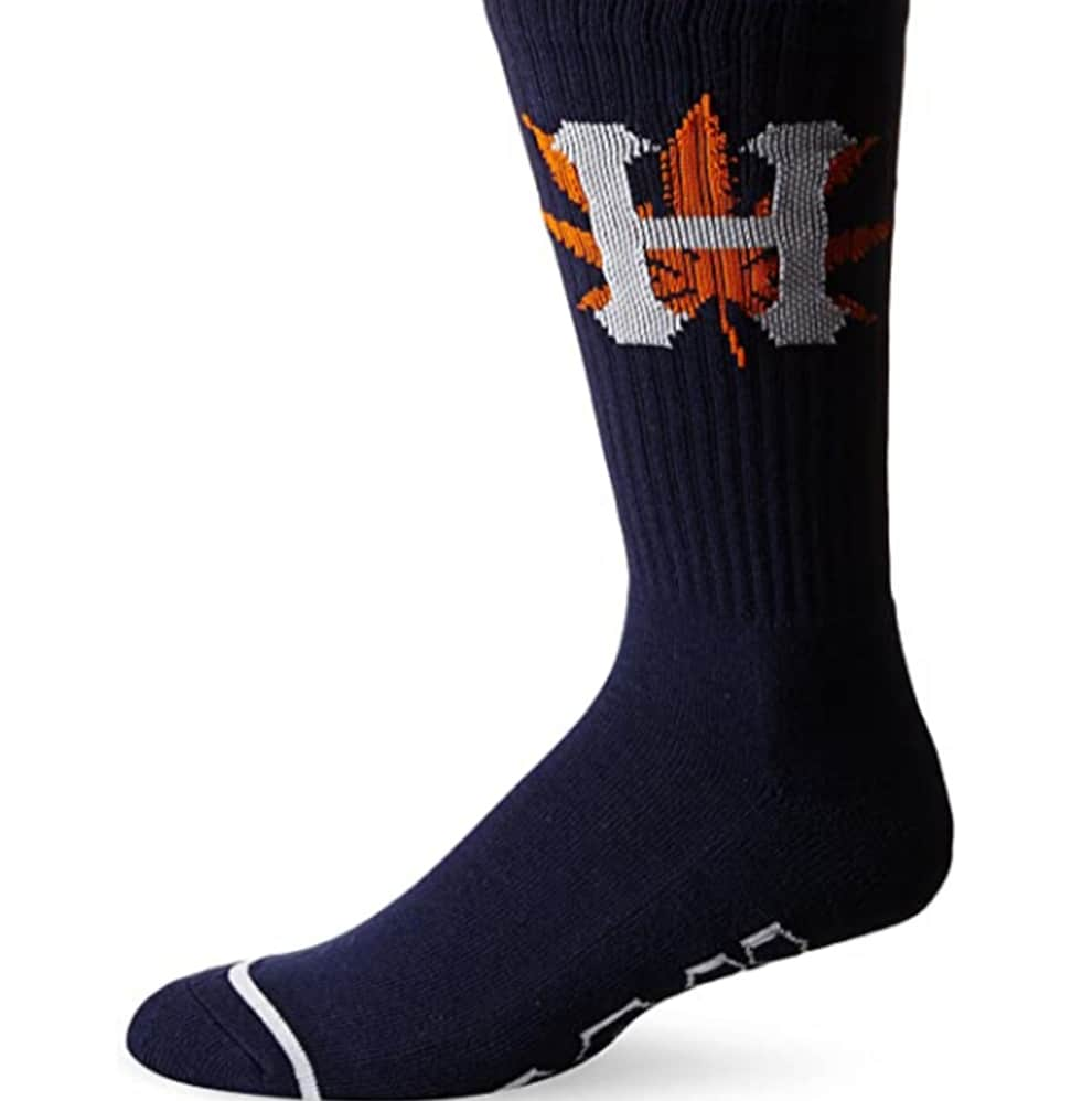 HUF H-TOWN SOCKS - NAVY ORANGE | Socks by HUF 1