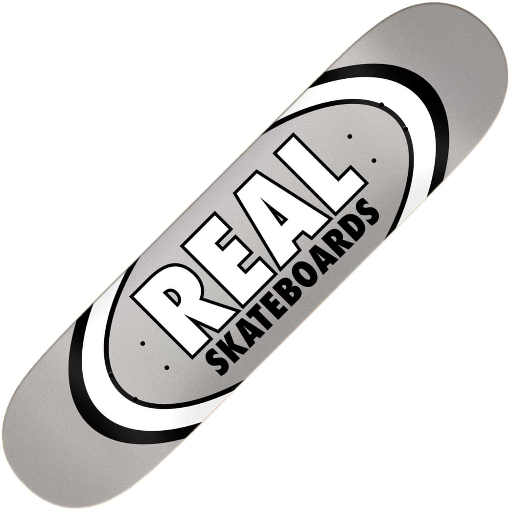 """Real Team Classic Oval True Mid deck (7.75"""")   Deck by Real Skateboards 1"""