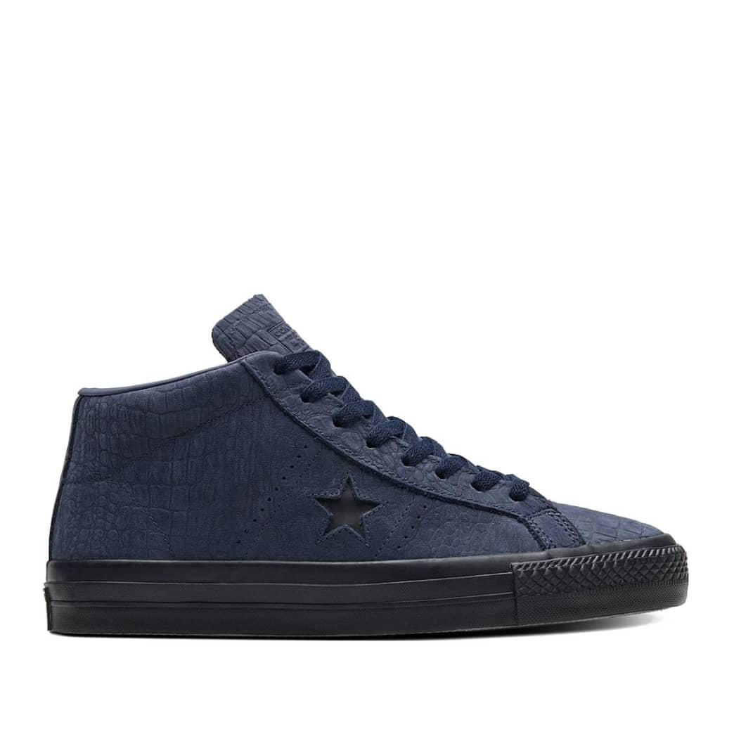 Converse CONS One Star Pro Mid Shoes - Obsidian / Hyper Pink / Black | Shoes by Converse Cons 1