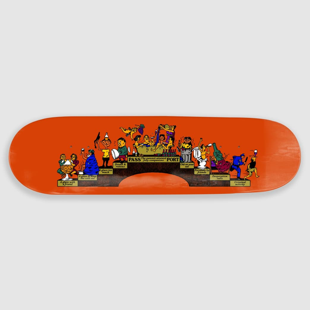 "Pass Port Skateboards - 8.125"" Singles Trickle Down Skateboard Deck 