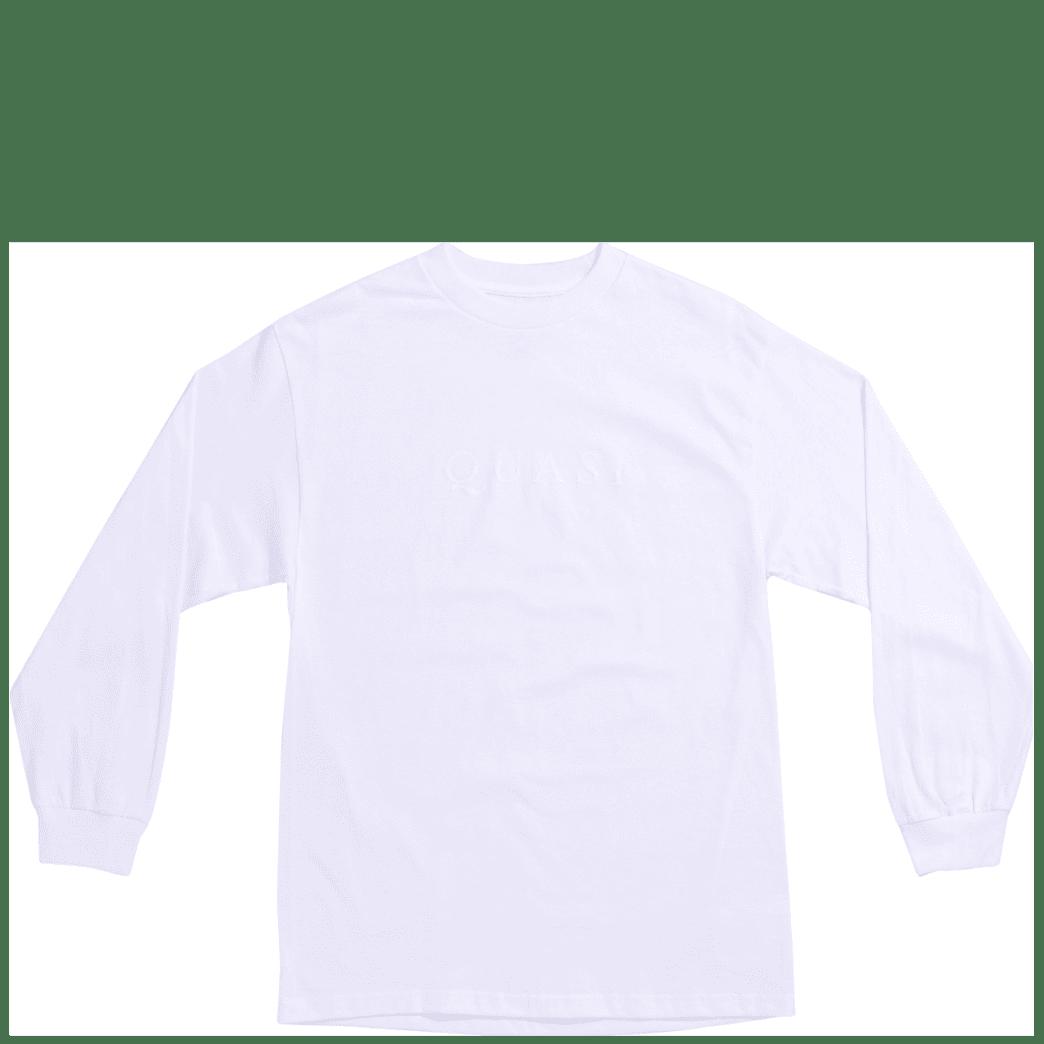 Quasi Wordmark Long Sleeve T-Shirt - White | Longsleeve by Quasi Skateboards 1