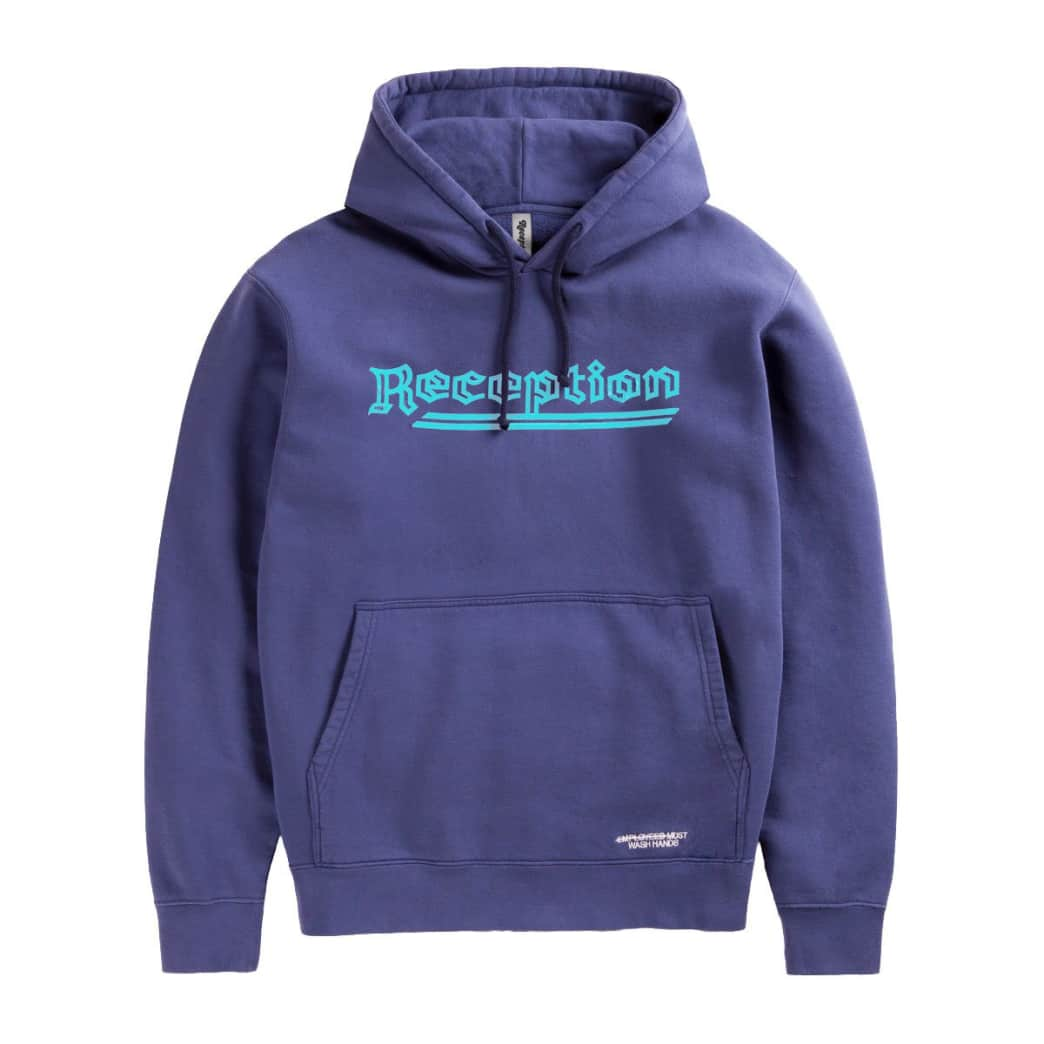 Reception -Roca Hooded Sweatshirt - Blue | Hoodie by Reception Clothing 1