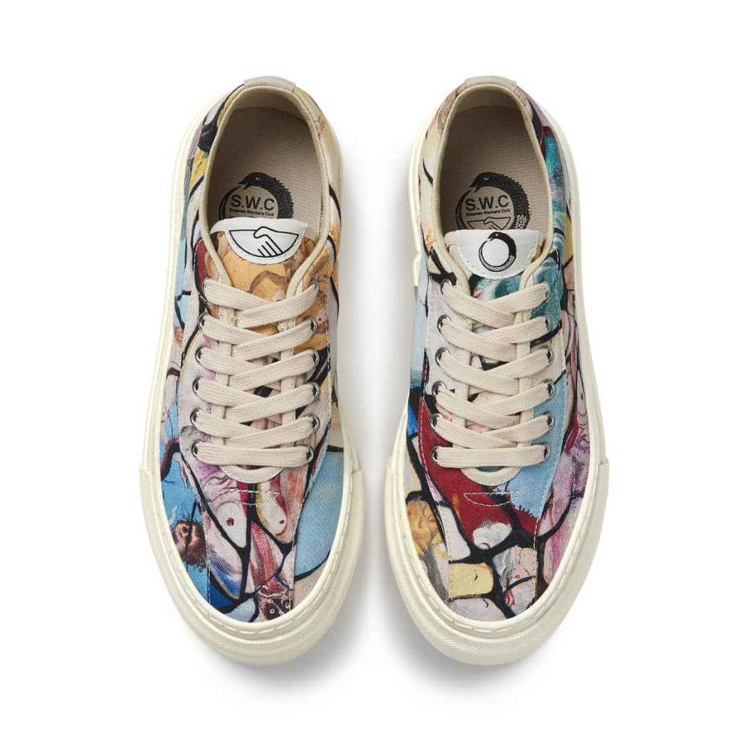 Stepney Workers Club x Endless Joy Dellow Womens Canvas Shoes - Cracked Earth | Shoes by Stepney Workers Club 3