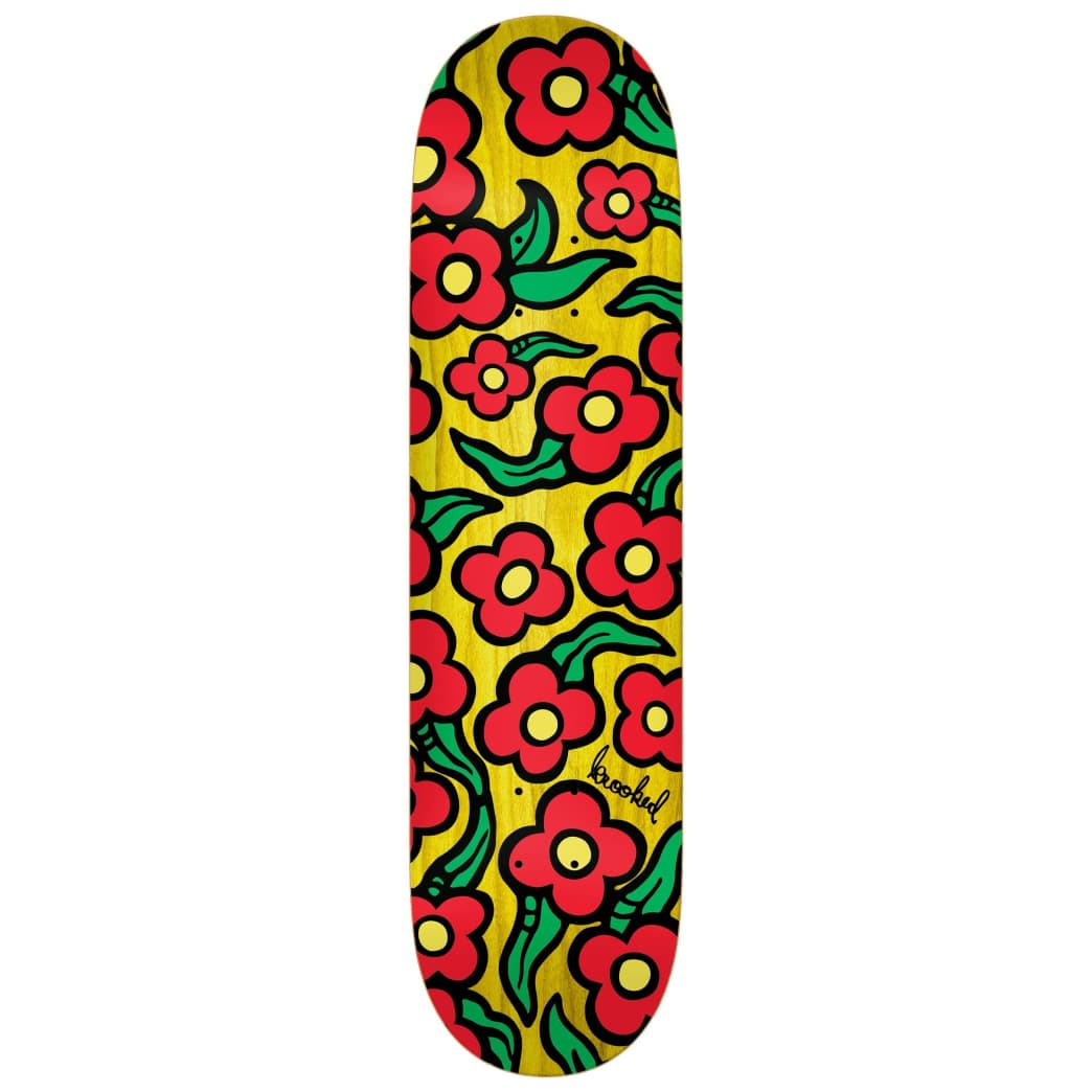 """Krooked Deck Wild Style Flowers 8.25"""" 