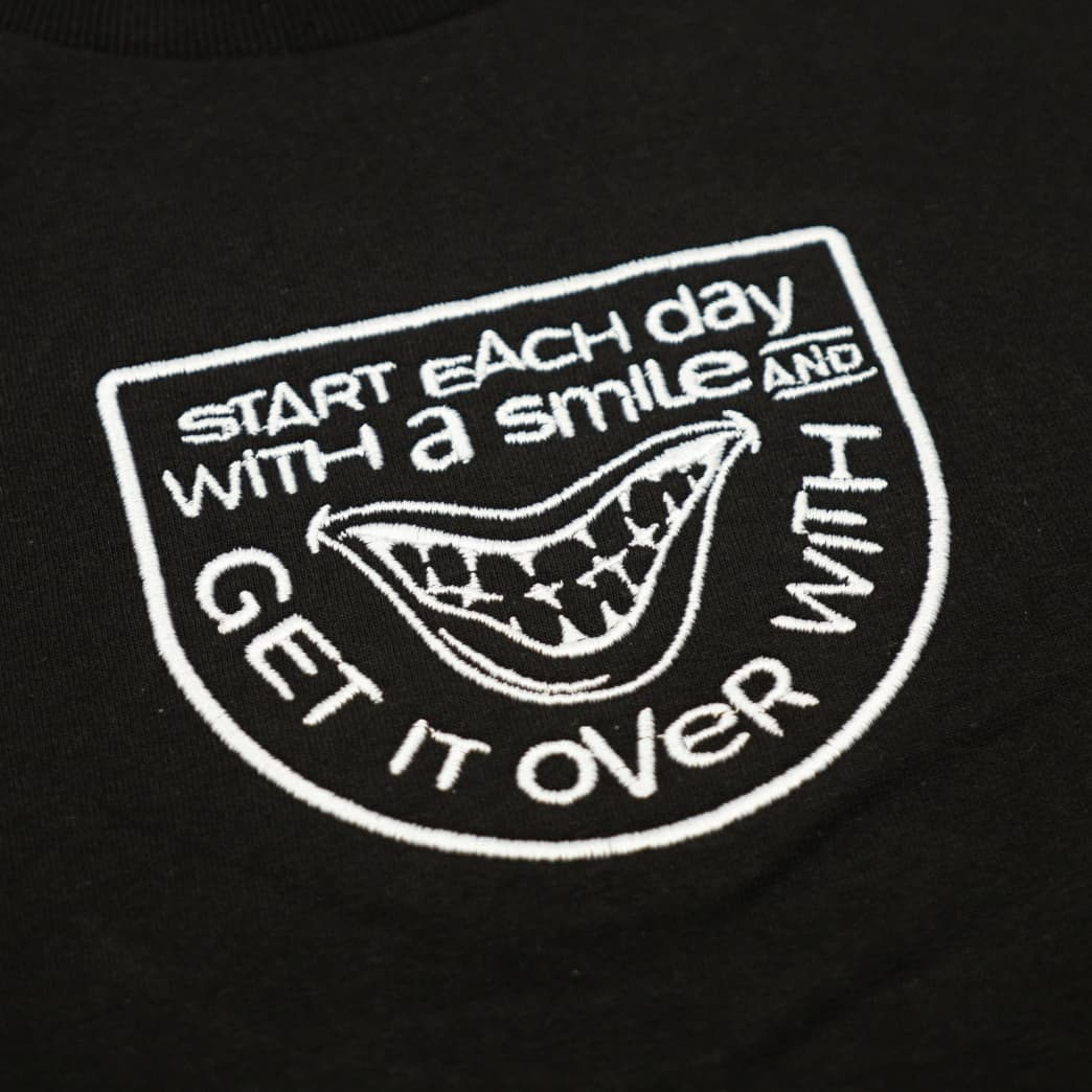 SMILE SHORTSLEEVE T-SHIRT - BLACK | T-Shirt by The National Skateboard Co. 2