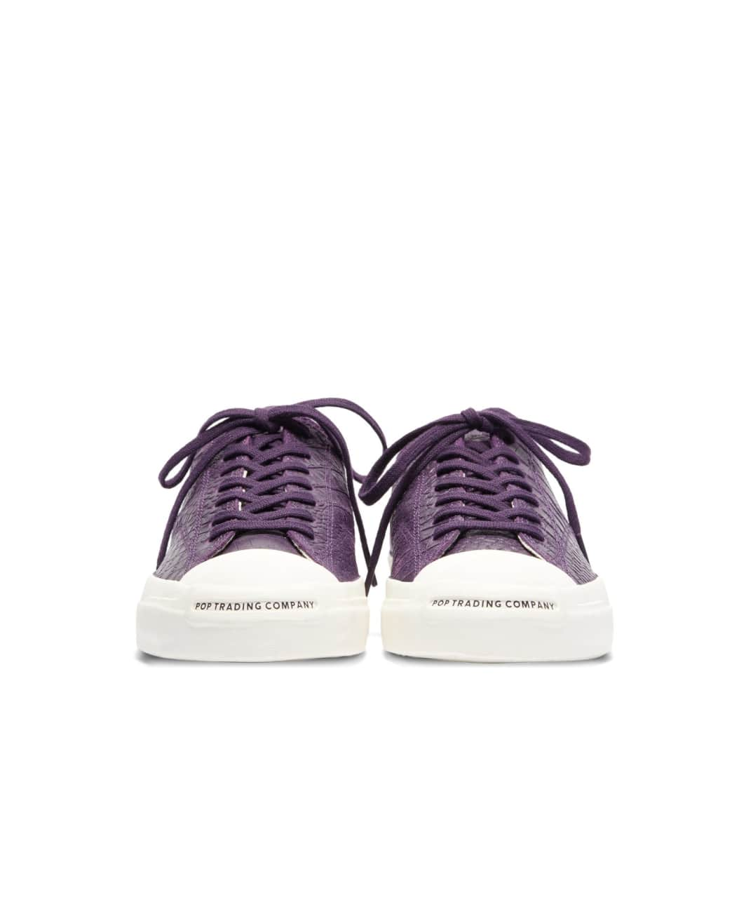 Converse CONS x Pop Trading Company JP Pro Ox Shoes - Dark Purple 'Dragonskin' | Shoes by Converse Cons 3