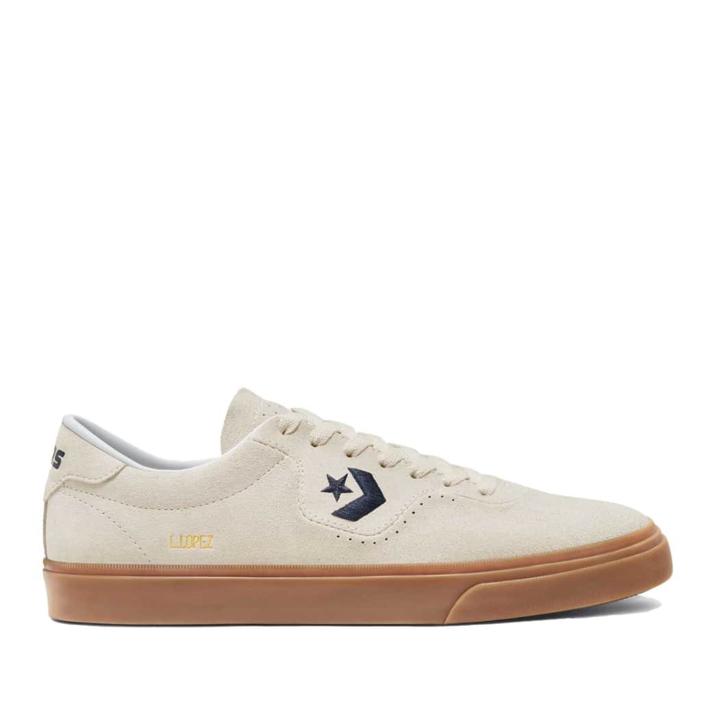 Converse CONS Louie Lopez Pro Ox Skate Shoes - Egret / Obsidian / Gum | Shoes by Converse Cons 1