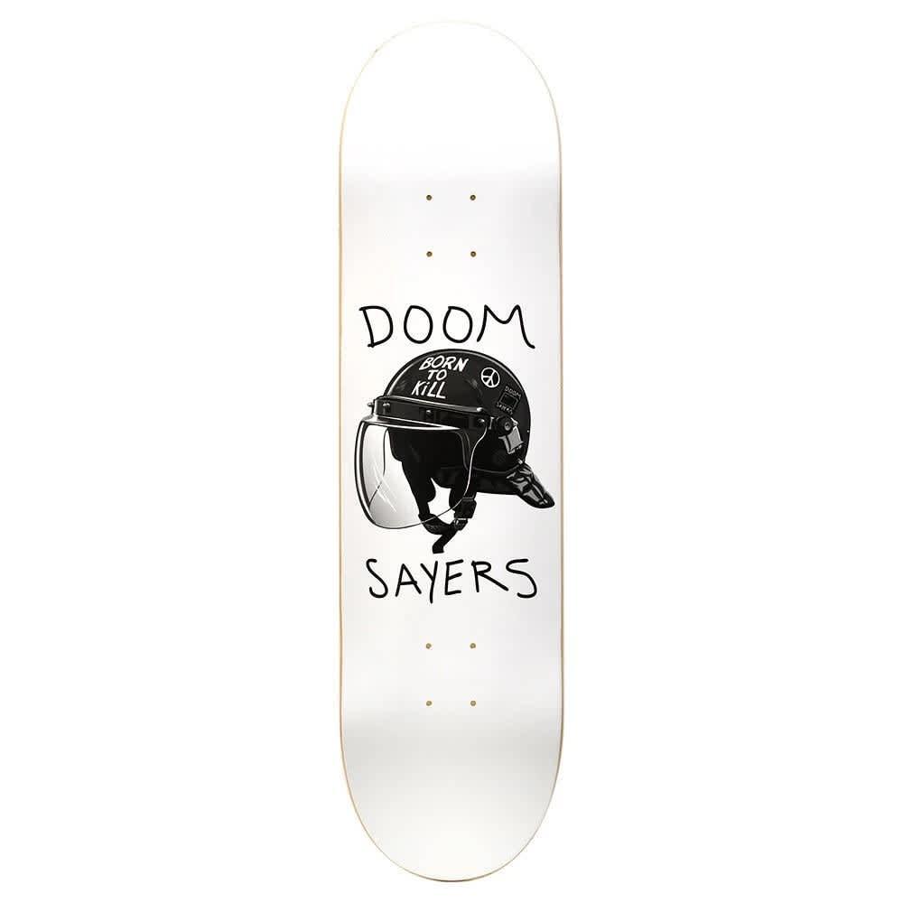 "Doom Sayers - Riot Helmet (White) 8.25"" | Deck by Doom Sayers Club 1"