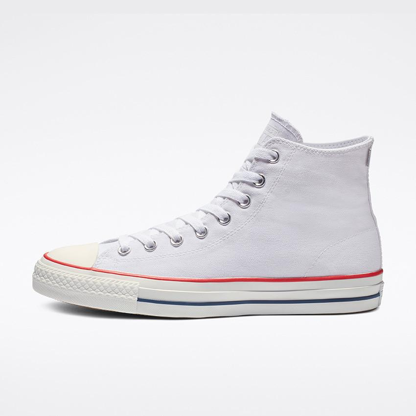 Converse CONS Chuck Taylor All Star Pro Ox Shoes (white red insignia blue)