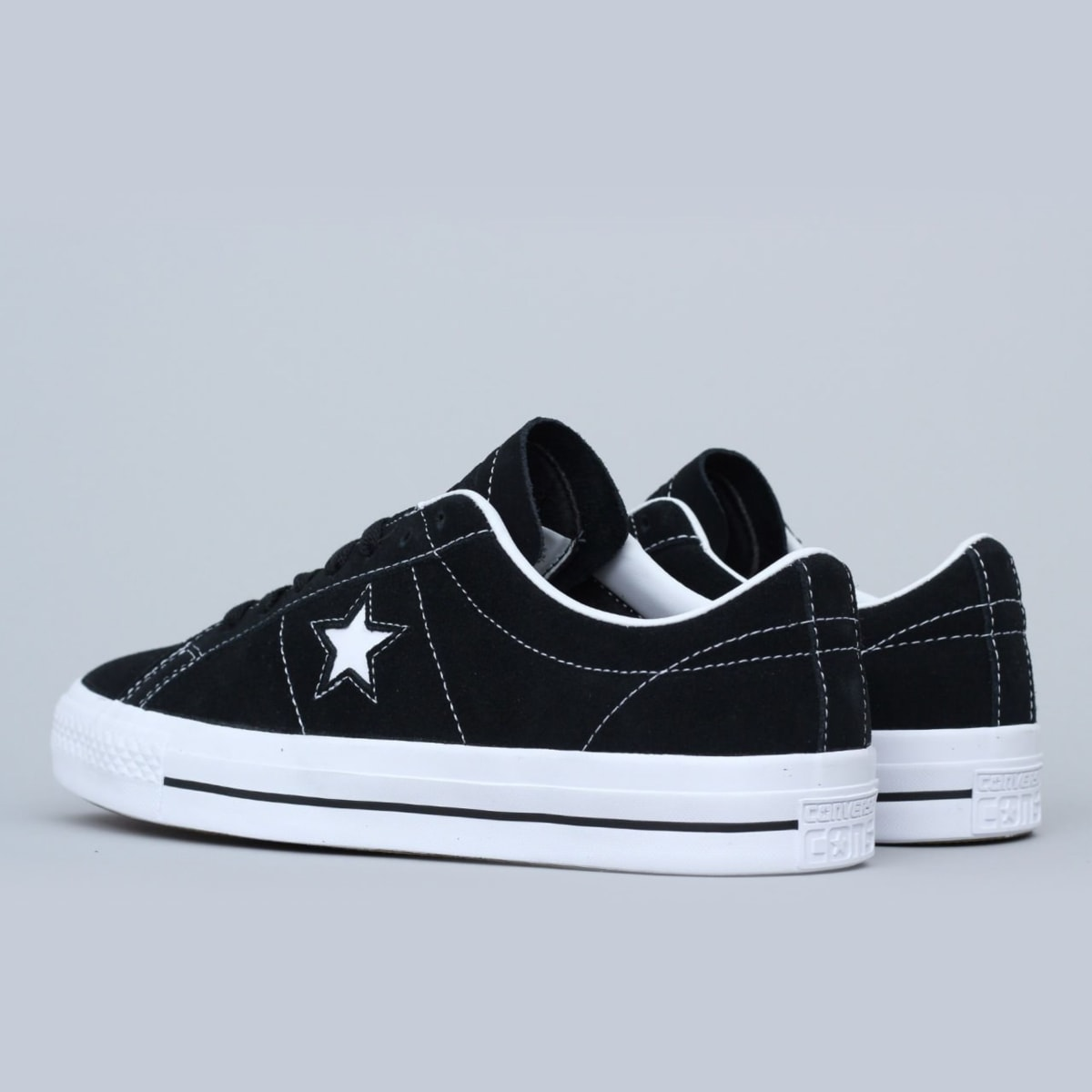 7910f9e24744 Shop Converse One Star Pro Shoes OX Black   White   White
