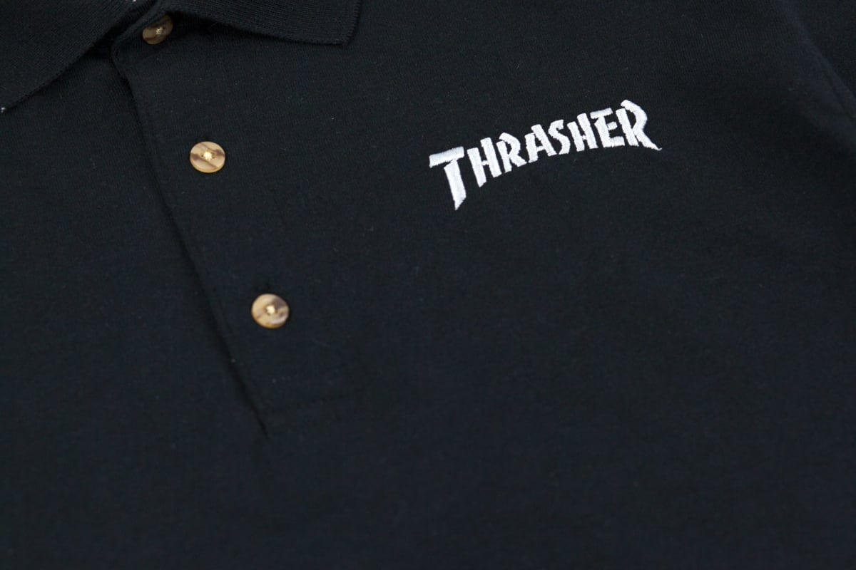 Black Thrasher Embroidered Polo Shirt