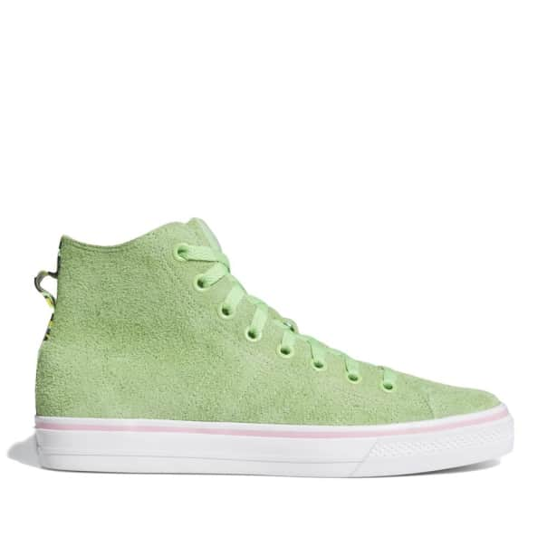 adidas Skateboarding Nizza Hi RF Shoes - Spring Green / Cloud White / Light Pink