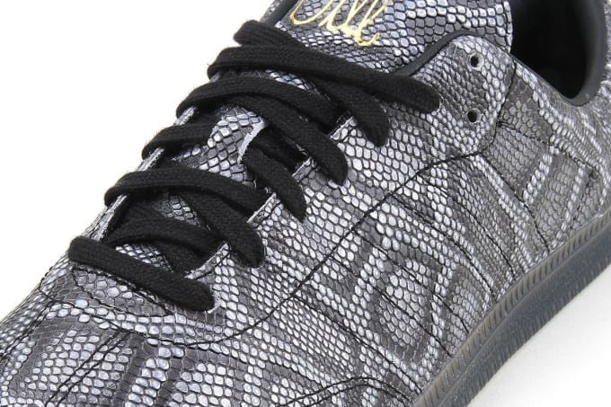 Jason Dill, of FA fame, releases his second adidas Skateboarding Samba skate show in snakeskin
