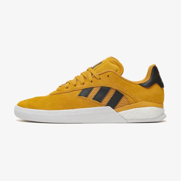 adidas 3ST.004 Miles Silvas Skateboard Shoes - Yellow/Core Black/Gold Metallic