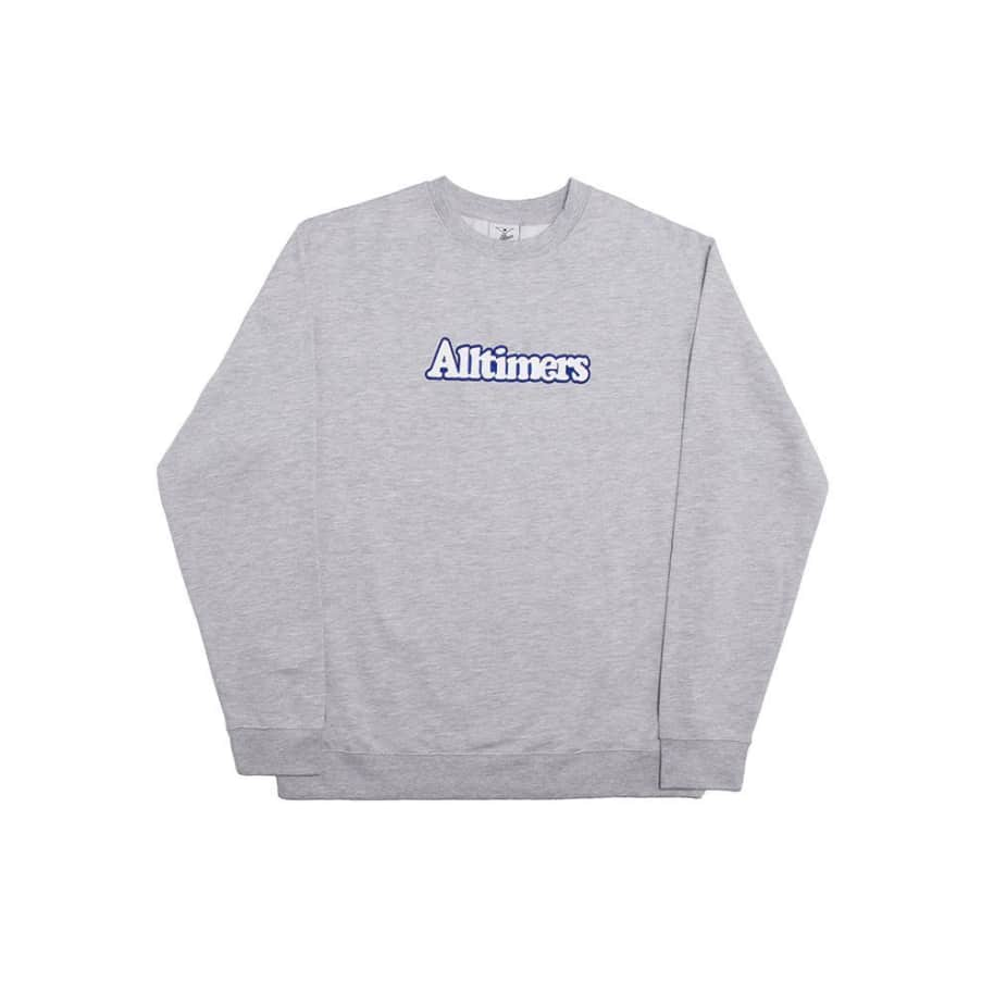 Alltimers Broadway Embroidered Crew - Heather Grey | Sweatshirt by Alltimers 1