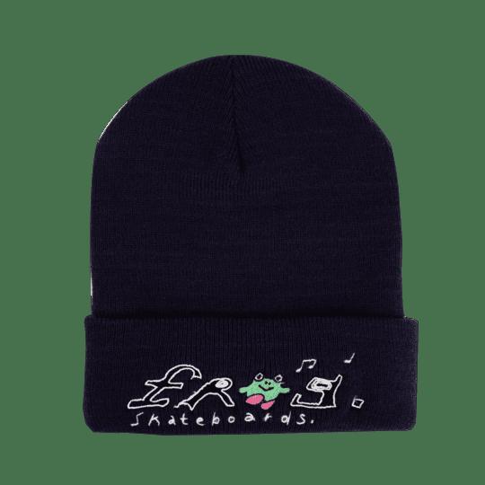 Frog Skateboards Happy Frog Beanie - Navy | Beanie by Frog Skateboards 1