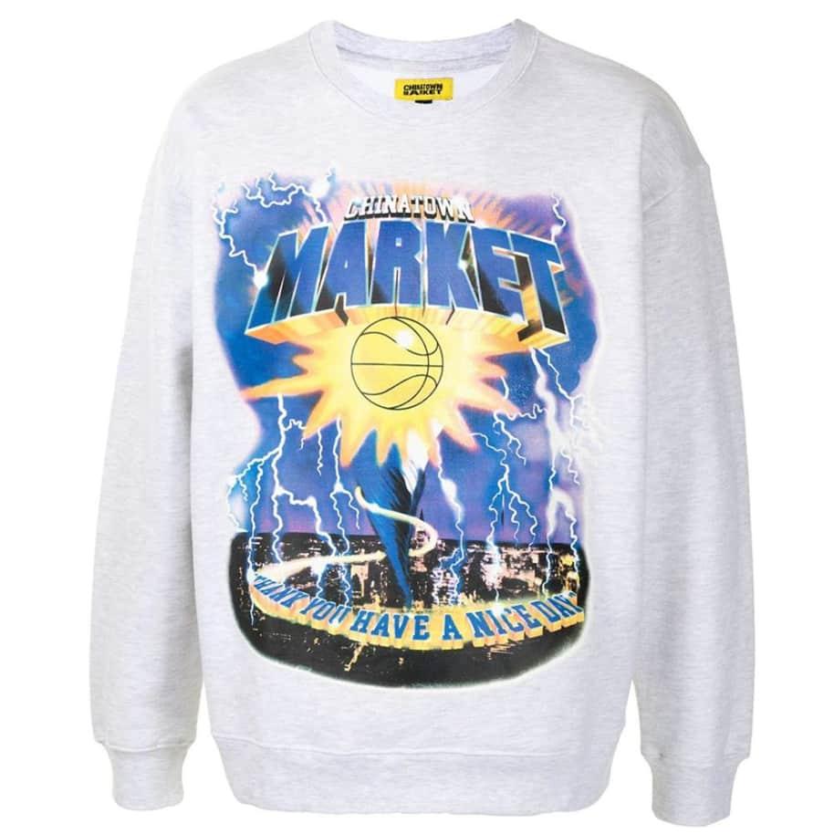 Market Tornado Crewneck Sweatshirt - Gray   Sweatshirt by Market 1